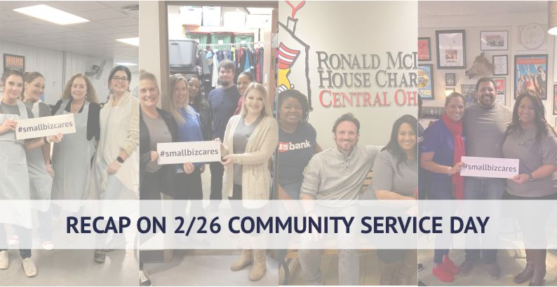 Recap Of The February 26th Small Biz Cares Community Service Day