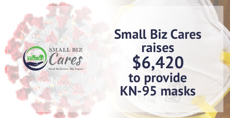 Small Biz Cares Raises Money For COVID-19 Masks