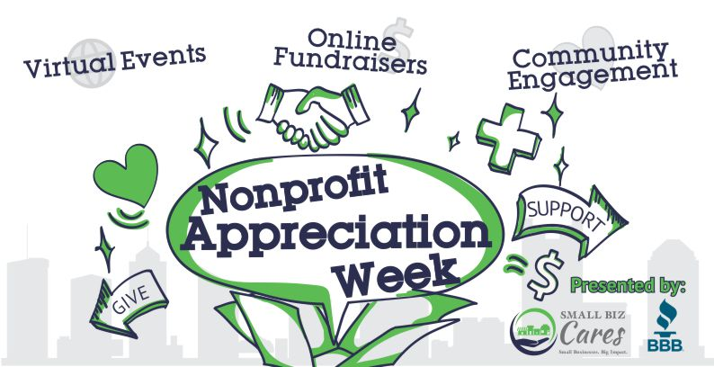 Nonprofit Appreciation Week & Virtual 5K / 25 Mile Ride – July 19 – 25th