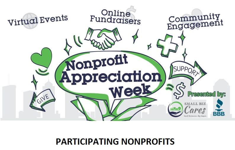 Nonprofit Appreciation Week Lineup