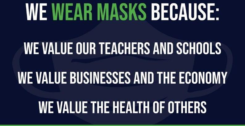 We Wear Masks Yard Sign Fundraiser